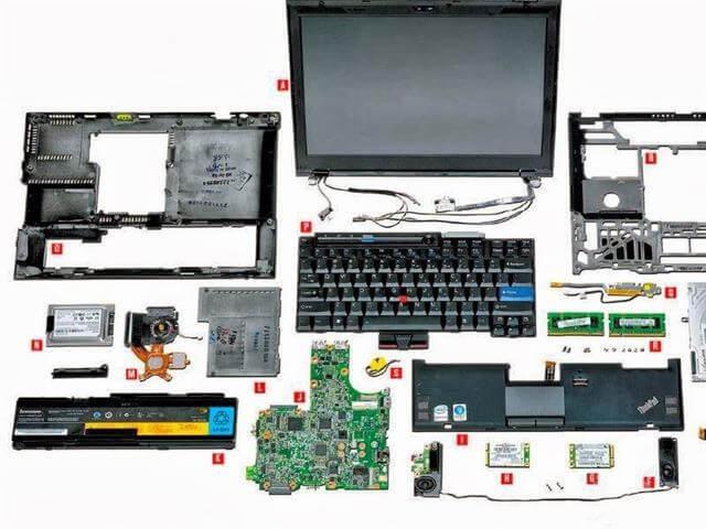 podzespoły i zawiasy laptopów